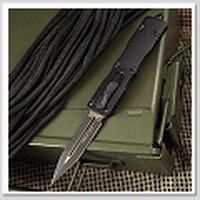 Microtech Dirac D/E 新款黑鋁柄彈簧刀 (M390鋼Dagger黑刃)