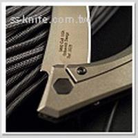 KER ZT 3.25''古銅色碳纖鈦柄折刀(S35VN鋼)